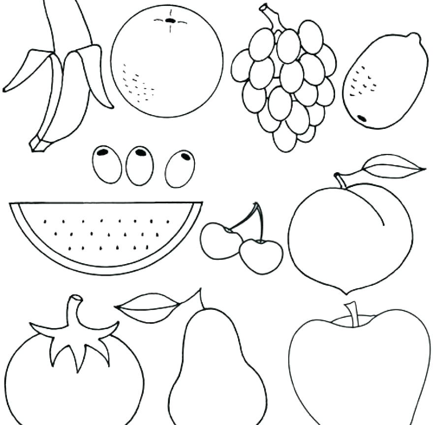 880x864 Printable Fruits And Vegetables Chart Fruit And Vegetable Coloring