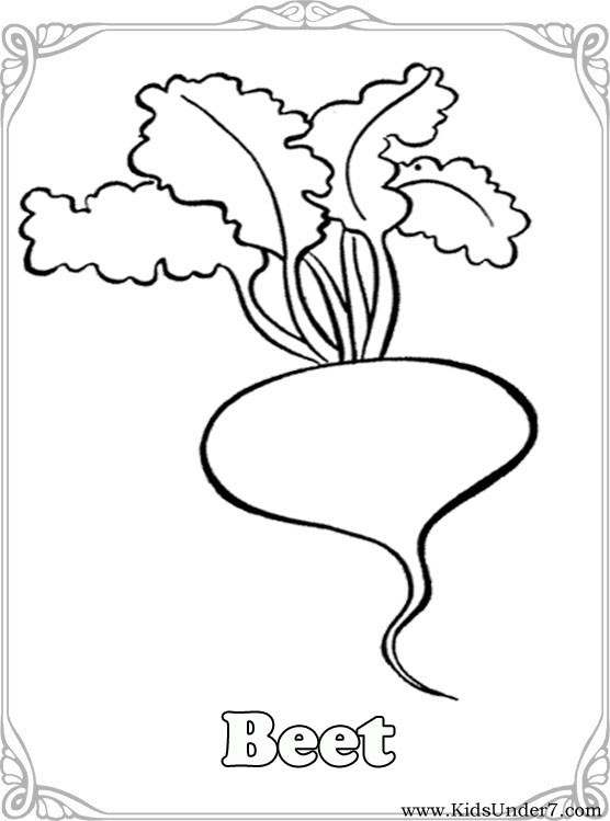 Vegetable Coloring Pages For Preschoolers at GetDrawings.com | Free ...