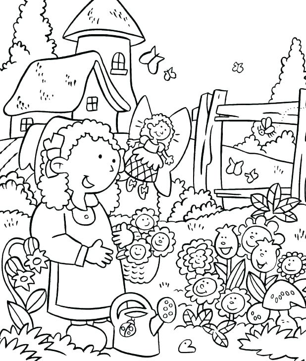 618x728 Garden Coloring Sheets Vegetable Garden Coloring Pages Welcome