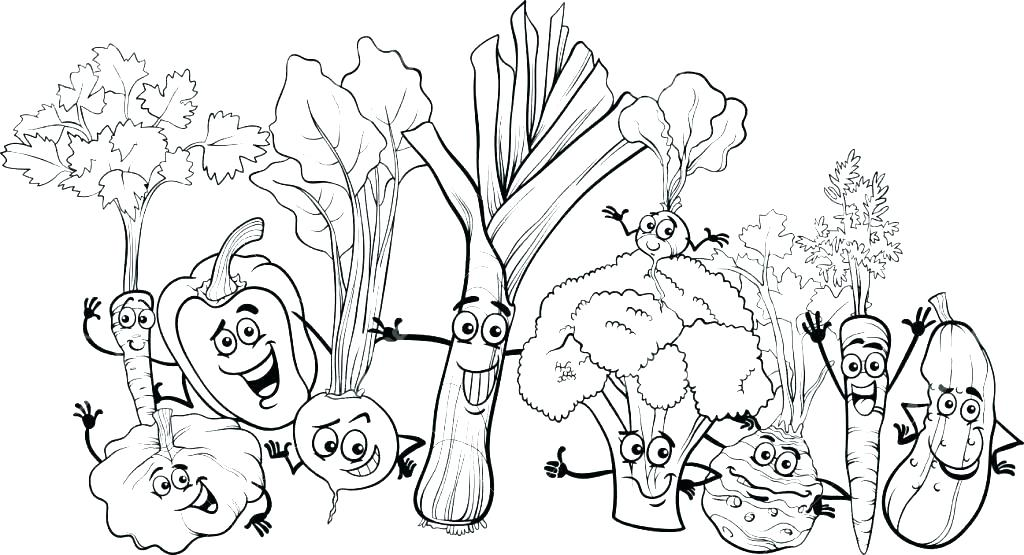 1024x555 Veggie Coloring Pages Vegetable Garden Coloring Pages Vegetable