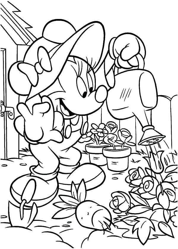 600x840 Garden Coloring Page Vegetable Garden Coloring Pages