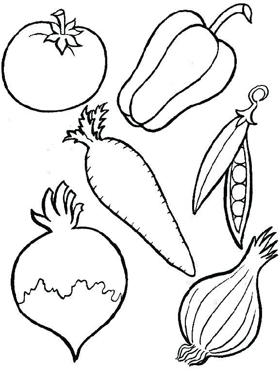 Vegetables Coloring Pages For Kindergarten at GetDrawings ...