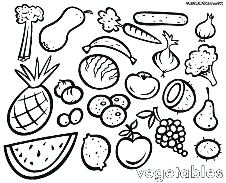 728x590 Vegetable Coloring Page Medium Size Of Vegetable Coloring Pages