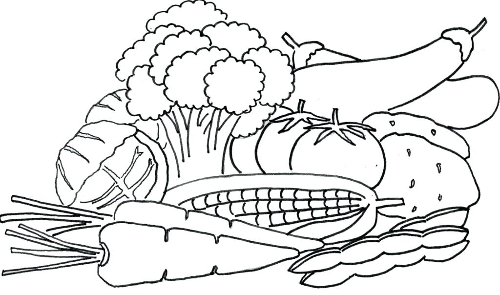 1024x604 Vegetable Coloring Page Vegetables Coloring Pages Vegetable