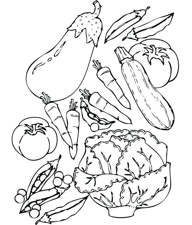 650x764 Vegetable Coloring Pages Amazing Vegetable Coloring Pages