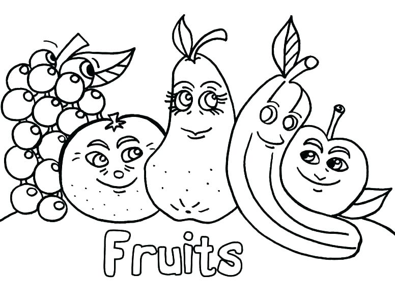 776x600 Vegetable Coloring Pages Fruit And Vegetable Coloring Pages Free