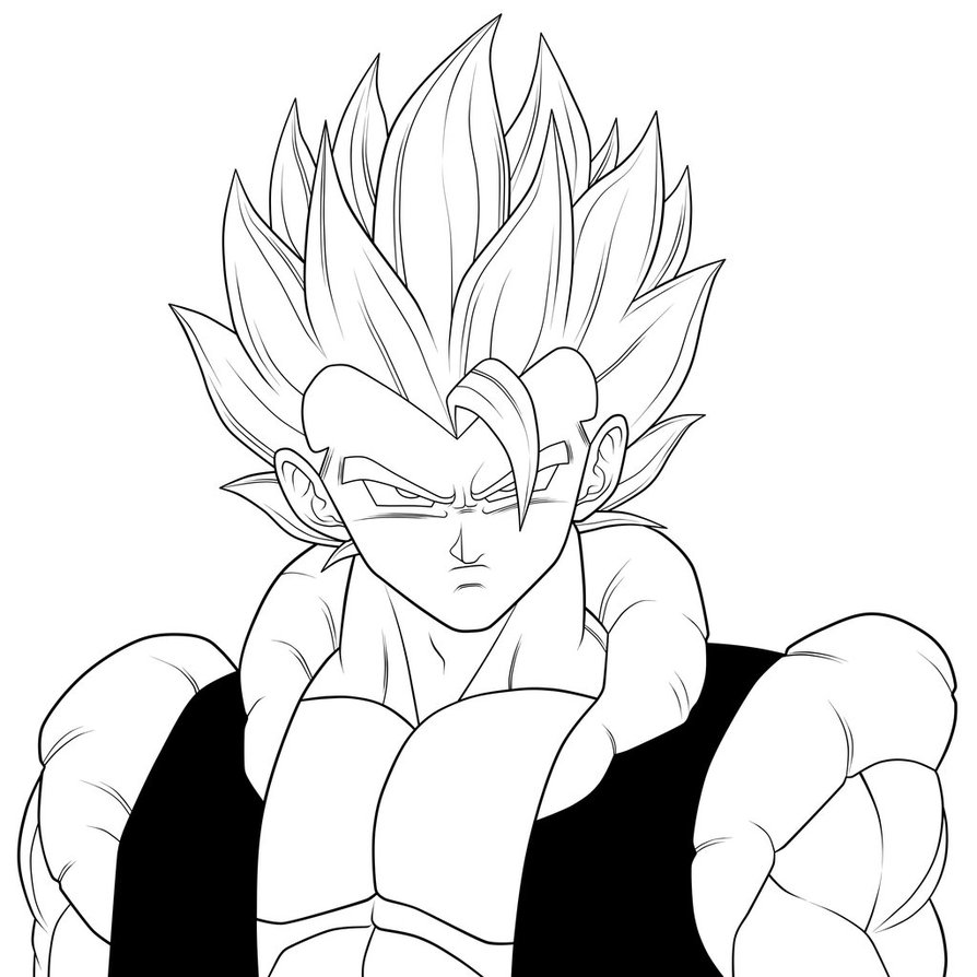 Vegito Coloring Pages