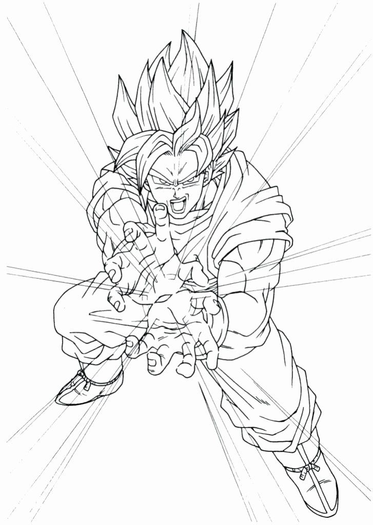 Vegito Coloring Pages At Getdrawings Free Download