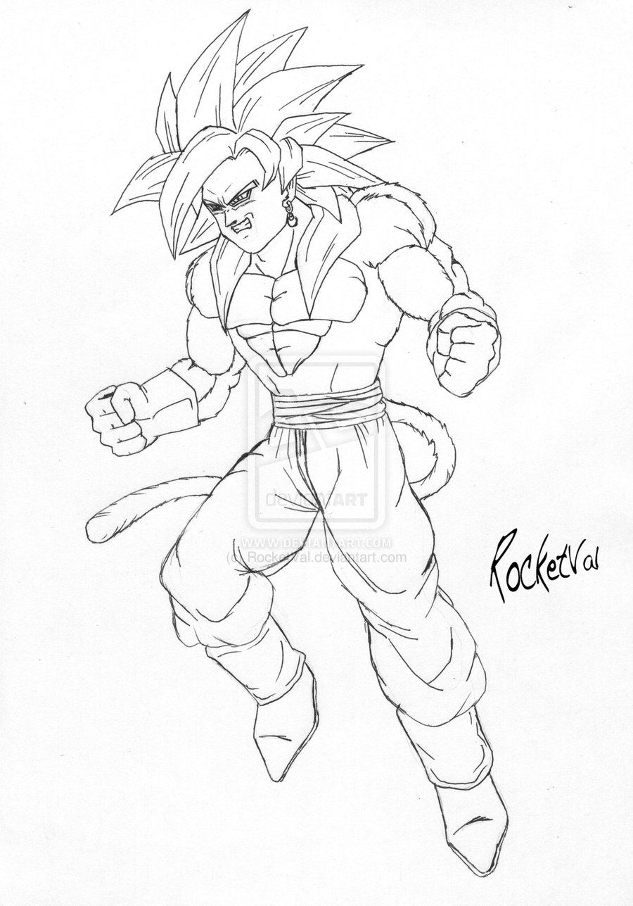 Vegito Coloring Pages at GetDrawings | Free download