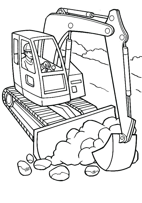 600x856 Construction Vehicles Coloring Pages Free Construction Coloring