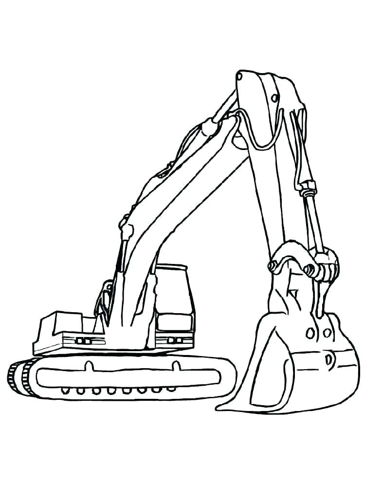 750x1000 Construction Vehicles Coloring Pages