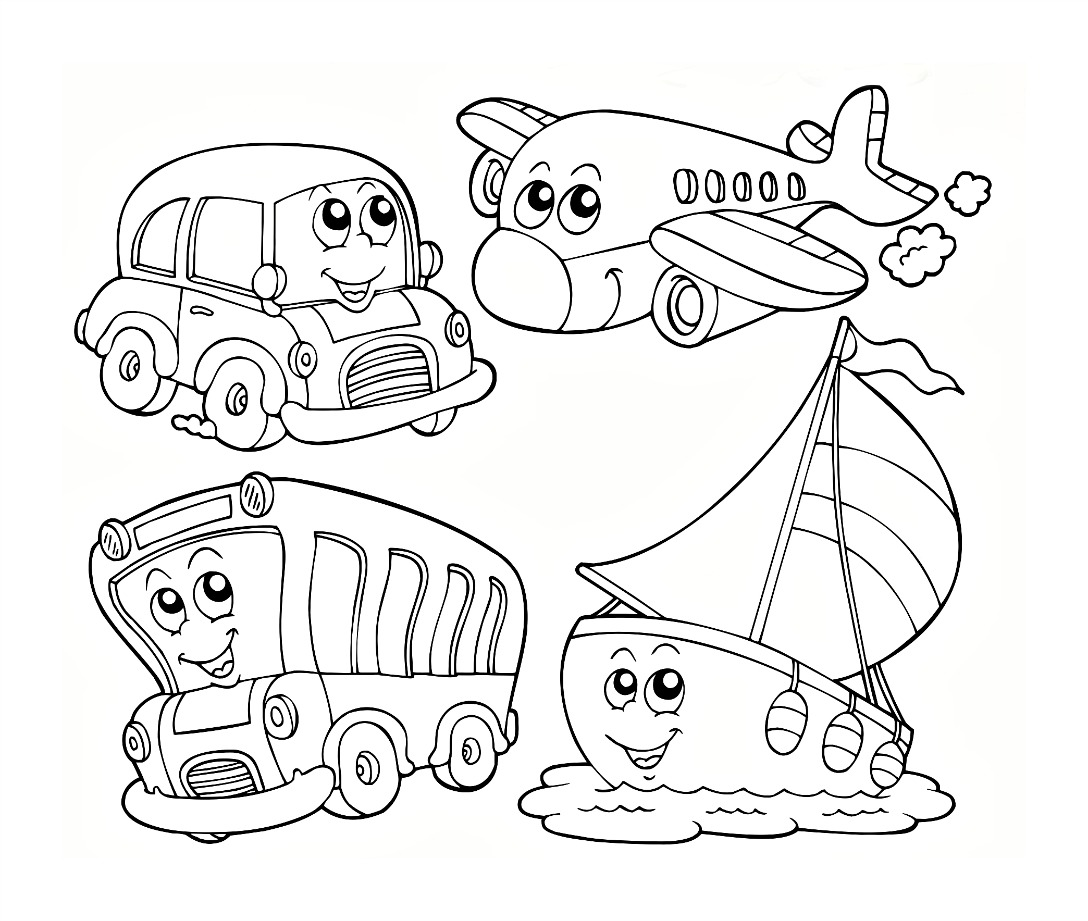 1088x921 Transportation Coloring Worksheets For Preschool