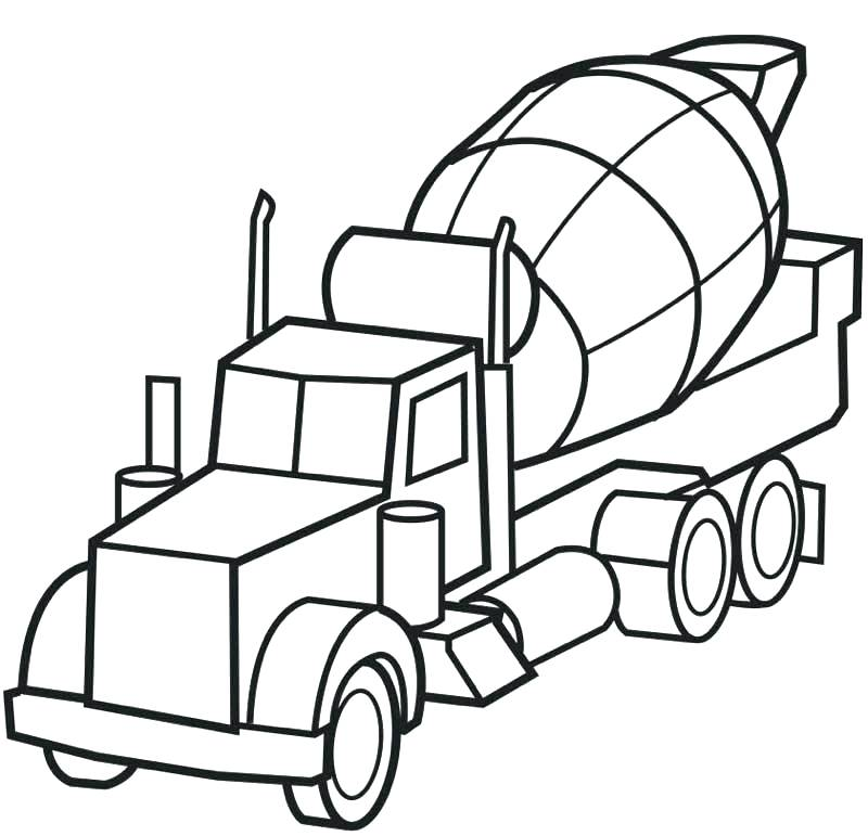 800x771 Army Truck Coloring Pages Army Truck Coloring Pages Cement Truck