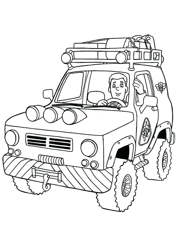600x840 Vehicle Coloring Pages Vehicle Coloring Pages Images Fireman