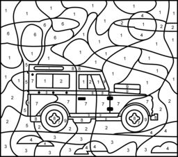 256x226 Vehicles Coloring Pages