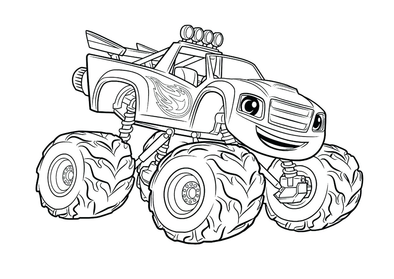 1268x896 Coloring Pages Trucks Coloring Pages Simple Monster Truck Pdf