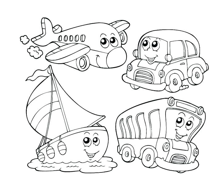 728x616 Transportation Coloring Pages