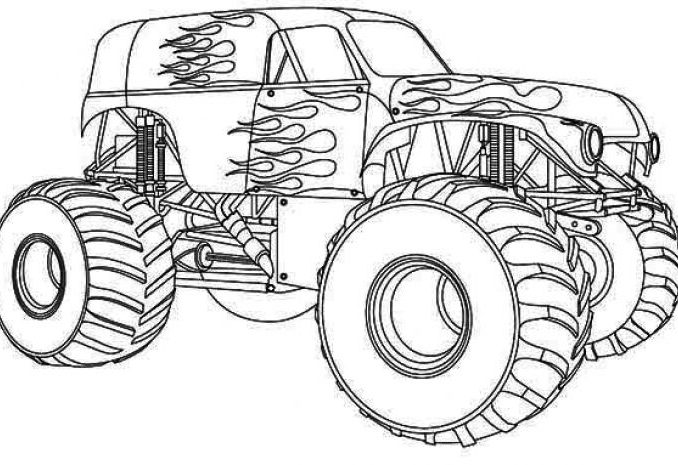 678x465 Color Monster Trucks Coloring Pages Coloring Pages