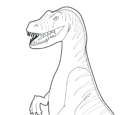 485x397 Velociraptor Coloring Page Coloring Page Colouring