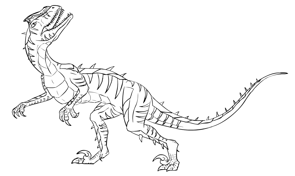 1228x734 Velociraptor Coloring Pages