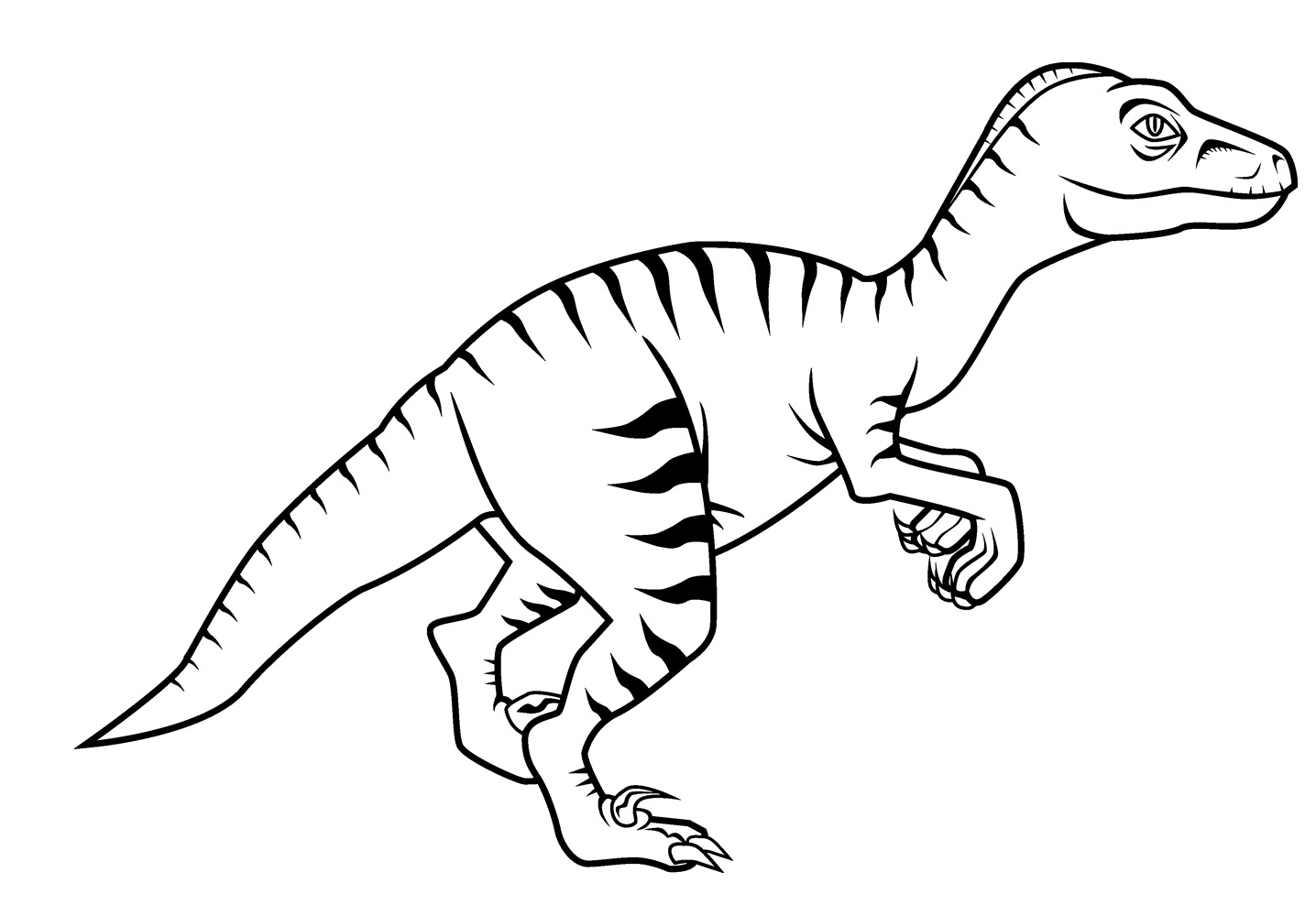 1436x1000 Free New Dinosaur Velociraptor Coloring Pages For Kids New