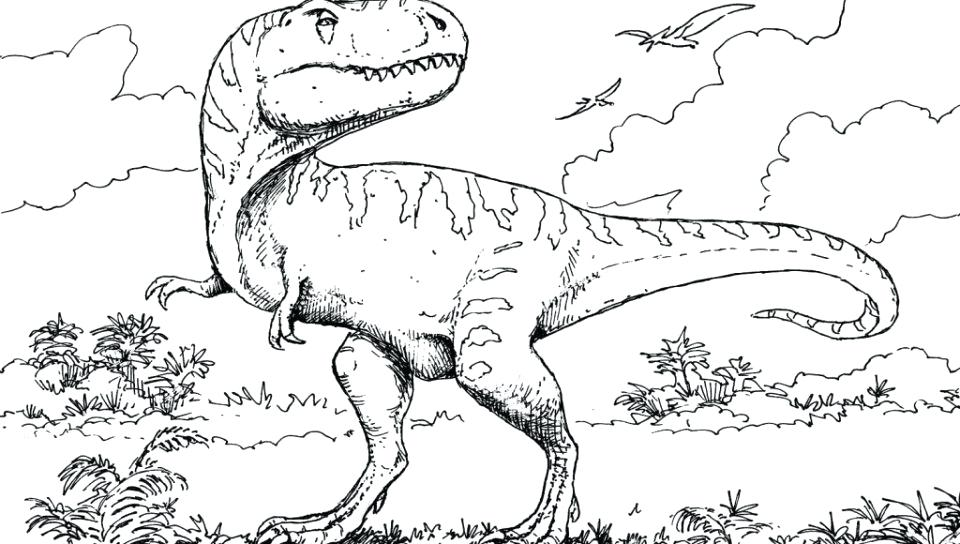 960x544 Jurassic Park Raptor Coloring Pages Kids Coloring Coloring
