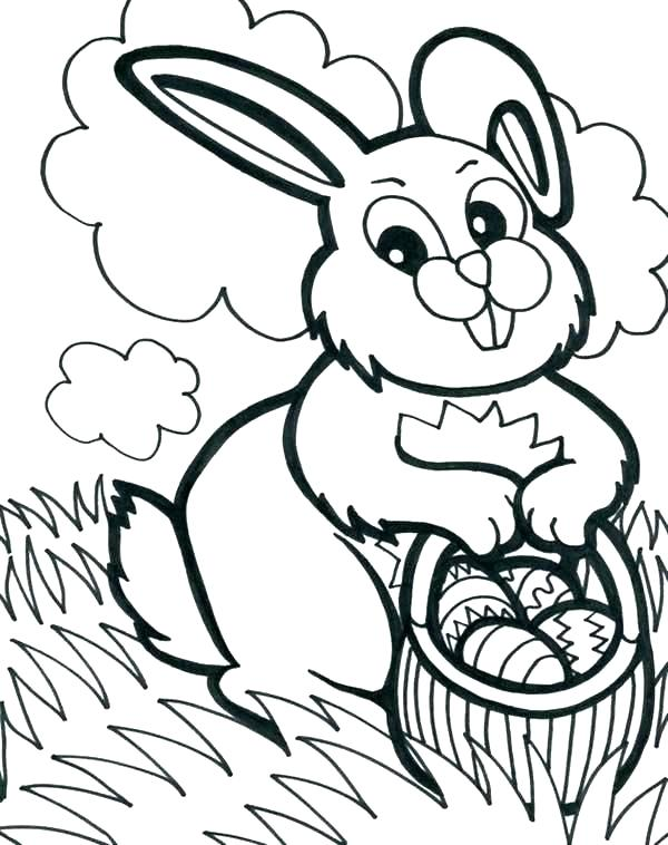600x758 Pictures Of Rabbits To Color Printable Rabbit Coloring Page Rabbit