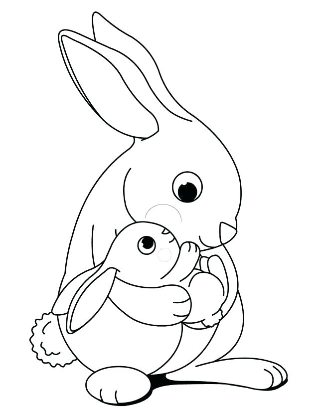 640x828 Rabbit For Coloring Coloring Page Of A Rabbit Rabbit Coloring