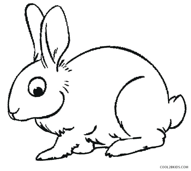 770x690 Rabbit Coloring Sheet
