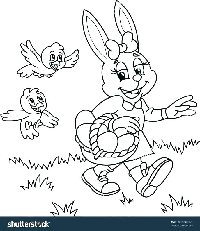 687x795 Free Bunny Coloring Pages Bunny Coloring Pages For Adults