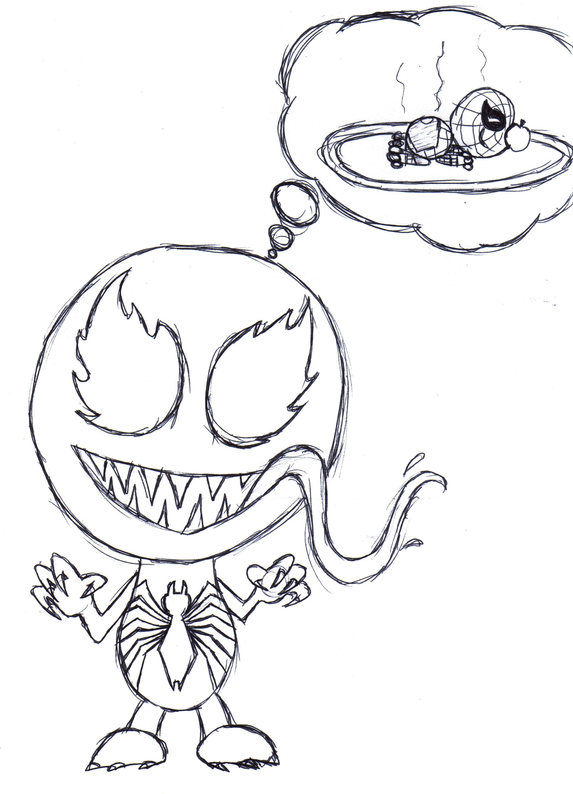 Venom Coloring Pages at GetDrawings   Free download
