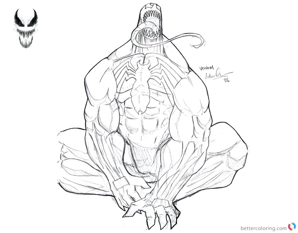 Free Printable Venom Coloring Pages For Kids | Superhero coloring ... | 750x960