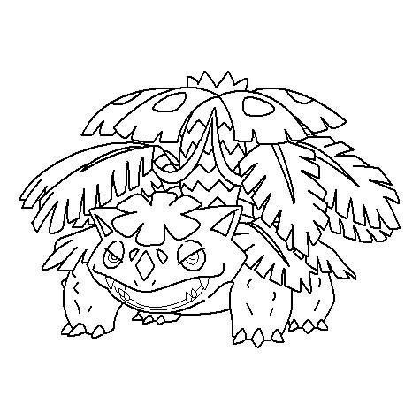 475x475 Mega Venusaur Coloring Page