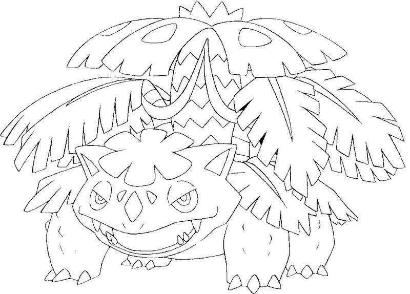 800x574 Coloring Page Mega Evolved Pokemon Mega Venusaur