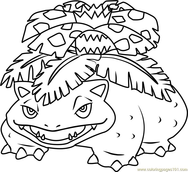 800x731 Pokemon Coloring Pages Venusaur
