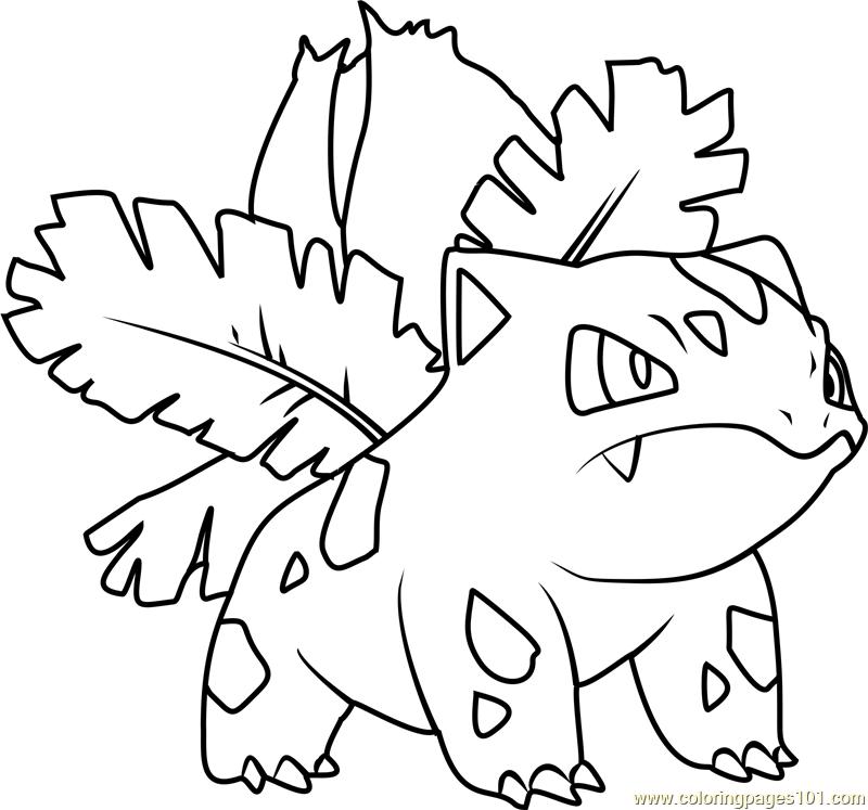 800x747 Pokemon Ivysaur Coloring Pages