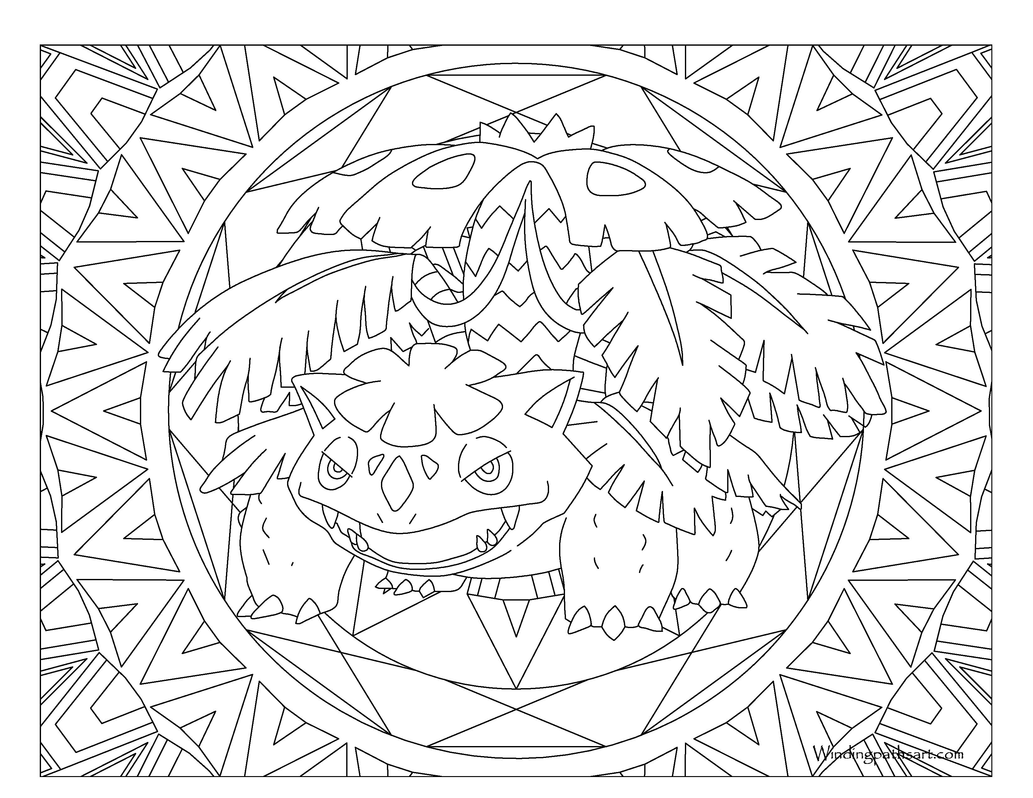 3300x2550 Venusaur Pokemon Coloring Page