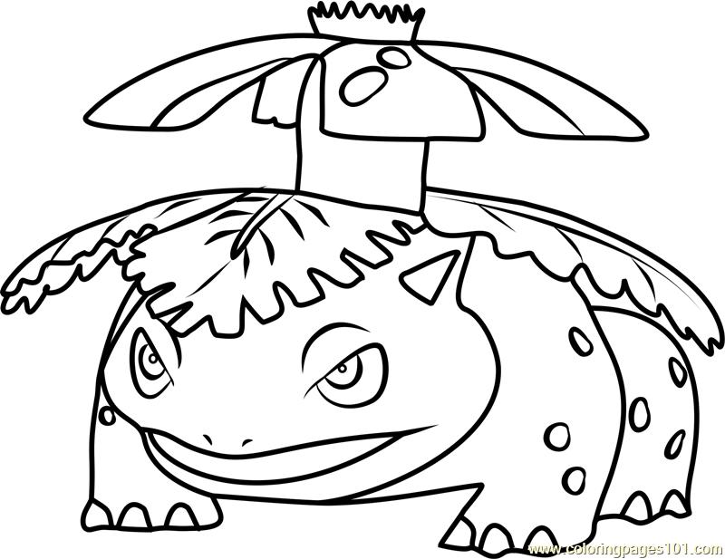 800x617 Venusaur Pokemon Go Coloring Page
