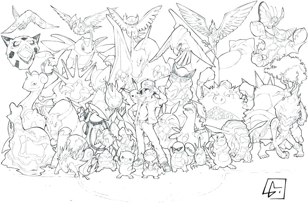 1043x737 All Pokemon Coloring Pages Coloring Pages All Coloring Pages Best