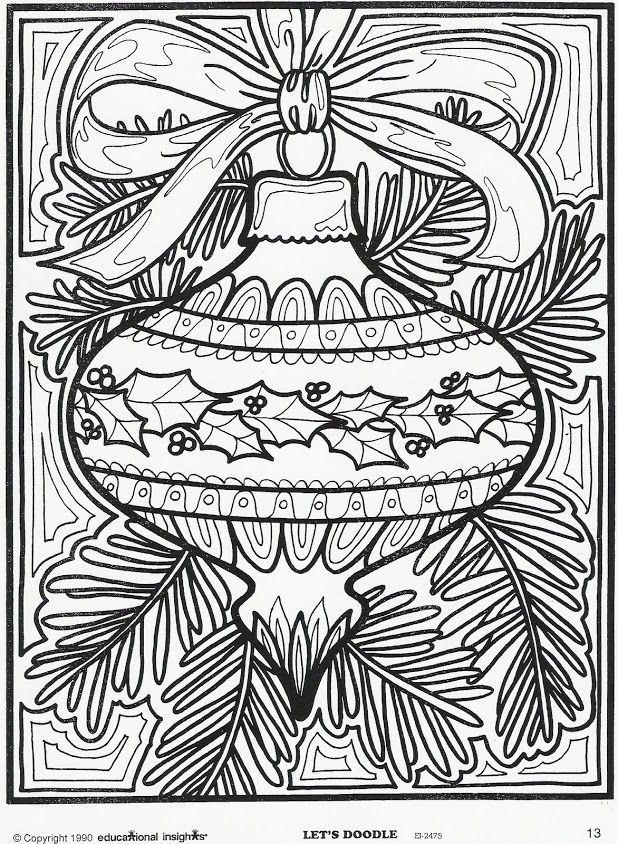 Very Detailed Christmas Coloring Pages