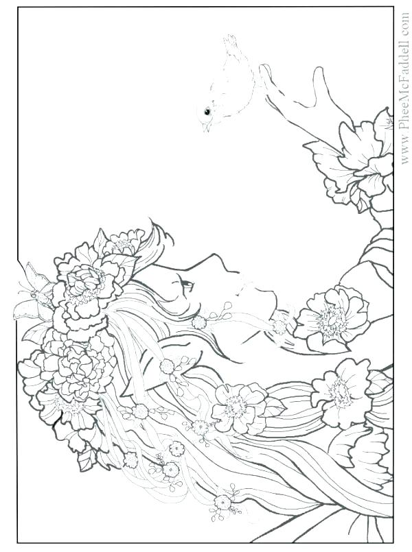 600x805 Very Detailed Coloring Pages Detailed Summer Coloring Pages Trend