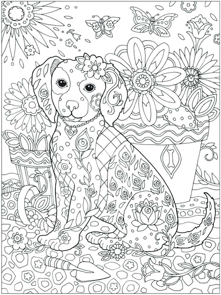 750x1000 Detailed Coloring Pages Adult Animal