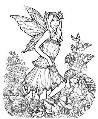 328x400 Detailed Coloring Pages For Adults Here Is A Very Detailed Fairy