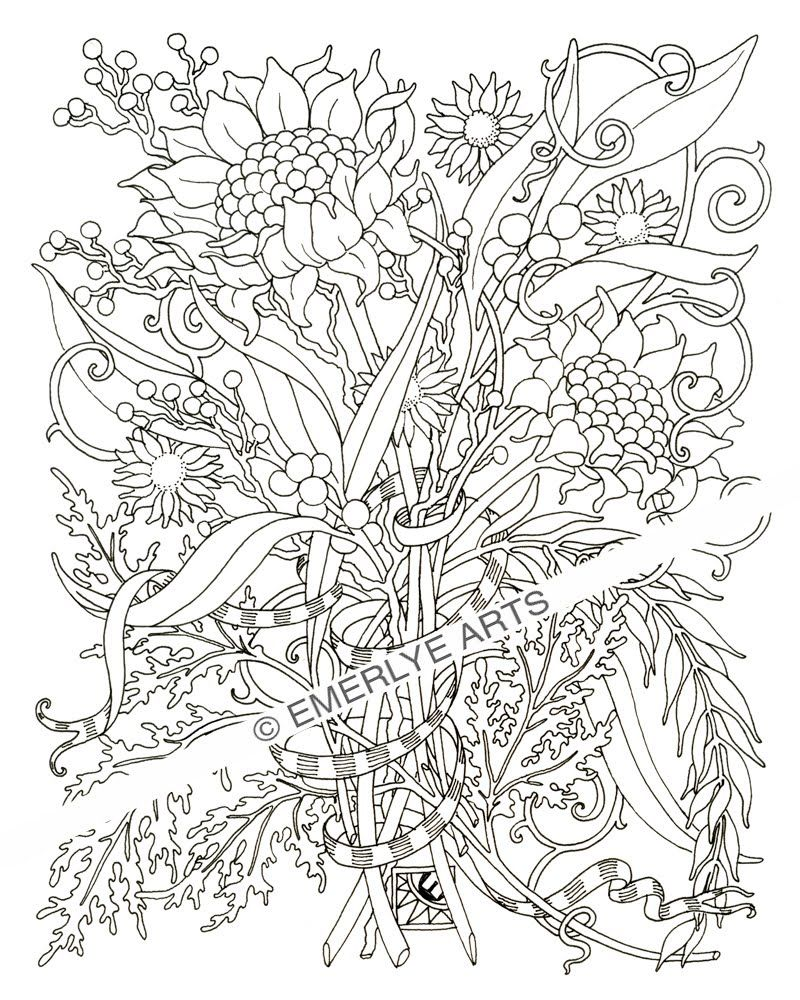 800x1000 Download Flower Coloring Pages For Adult