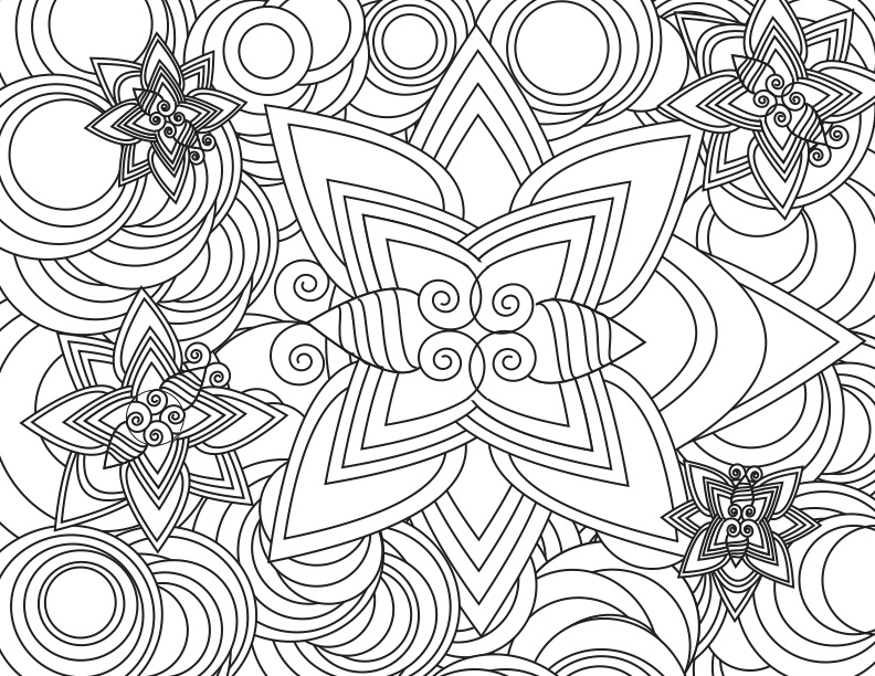 792x612 Hard Coloring Pages For Adults