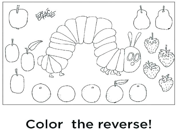 618x453 Hungry Caterpillar Coloring Page The Very Hungry Caterpillar