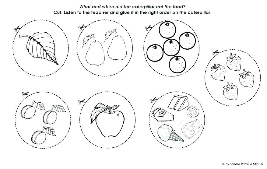 877x555 Hungry Caterpillar Coloring Pages Very Hungry Caterpillar Coloring
