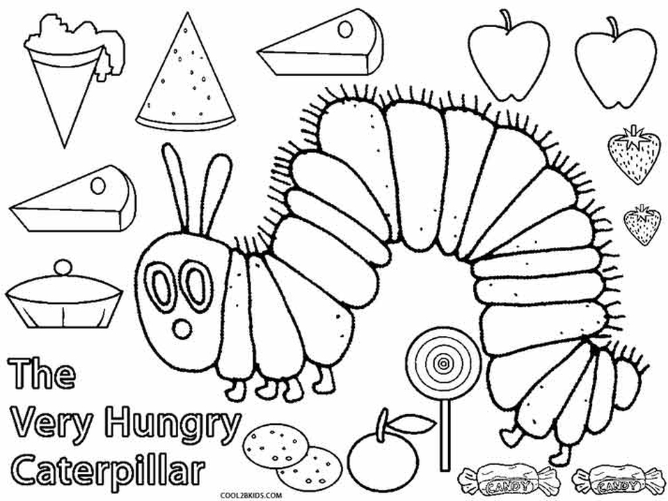 960x720 Very Hungry Caterpillar Coloring Page Free Printable The Very