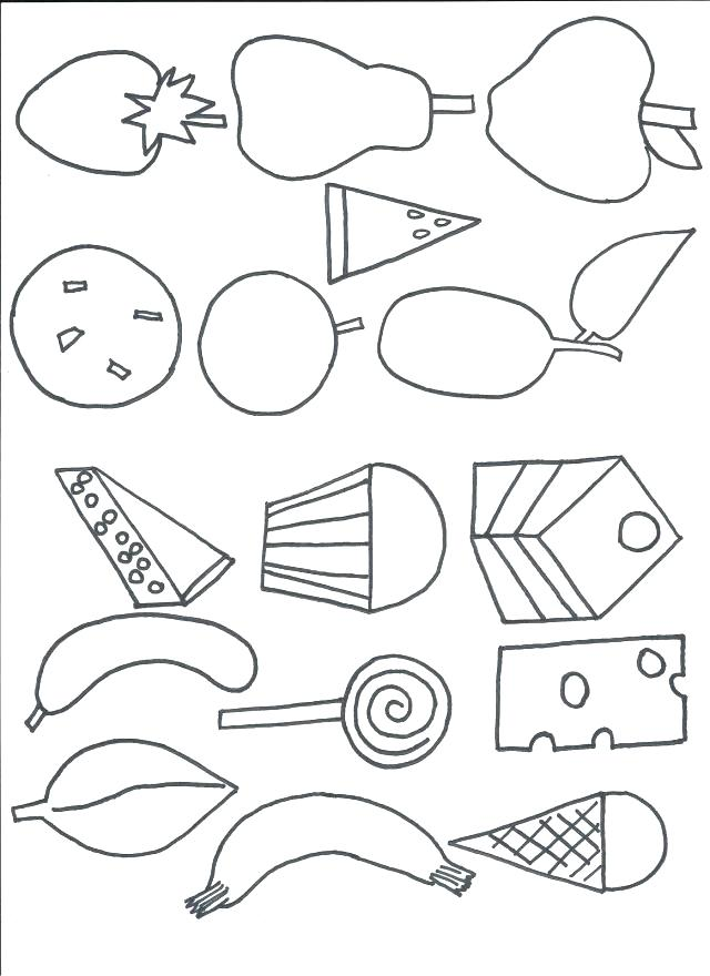 640x880 Very Hungry Caterpillar Coloring Page Also The Very Hungry