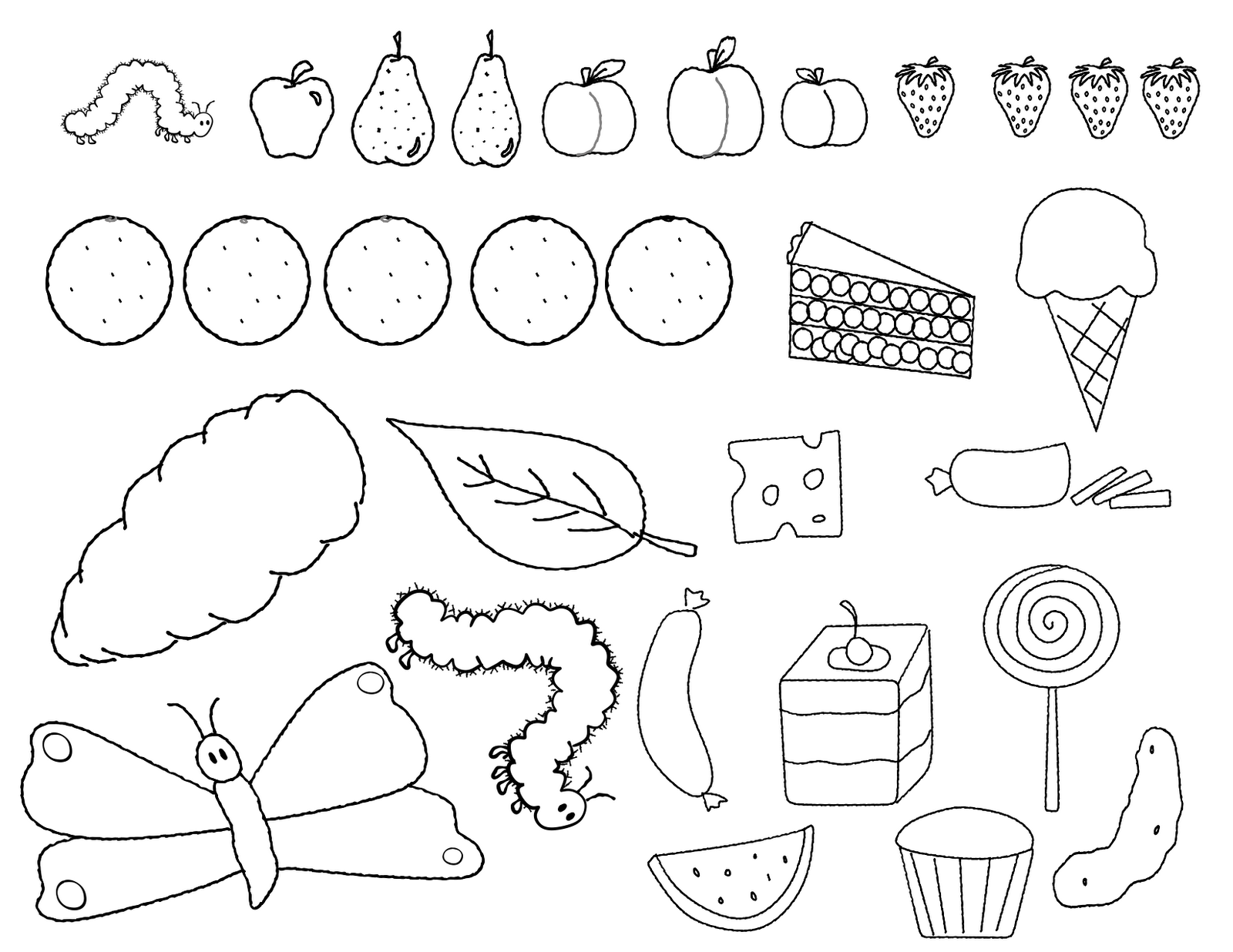 1600x1236 Very Hungry Caterpillar Coloring Pages Printable Coloring Pages